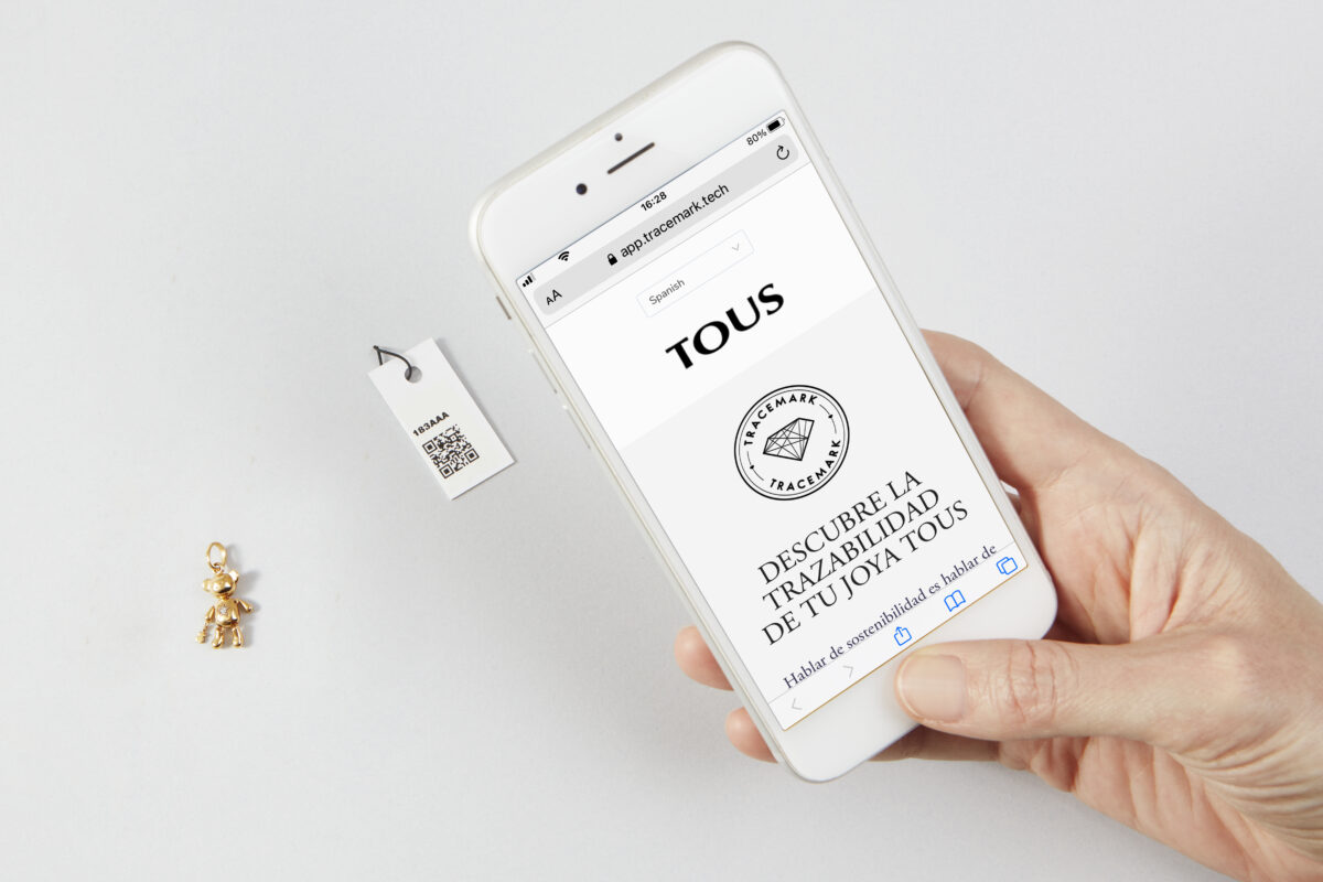 Tous jewelry traceability with Tracemark